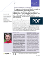 2020, Multiresponse optimization of Injection Moulding