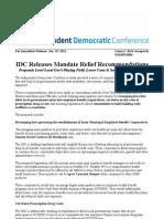 IDC Mandate Release 10.19.11