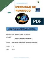 Fallo de la corte de la haya entre Chile y Perú