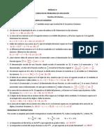 Problemas de aplicación Álgebra