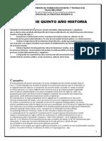 OBJETIVOS QUINTO AÑO HISTORIA