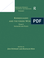 (Kierkegaard Research_ Sources, Reception and Resources 2) Katalin Nun, Jon Stewart (eds.) - Kierkegaard and the Greek World. Tome I_ Socrates and Plato-Routledge (2010)