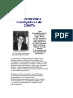 Premio medico a investigadores del CIHATA