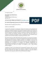 'Johnny' Méndez envía carta exigiendo a la Comisión Estatal de Elecciones publicar resultados de la primaria del 9 de agosto