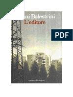 Balestrini, Nanni - L'editore