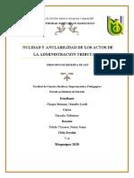 NULIDAD Y ANULABILIDAD DE LOS ACTOS DE LA ADMINISTRACIÓN TRIBUTARIA.docx