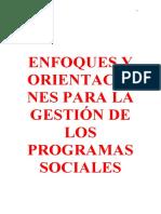 GESTION DE PROGRAMAS SOCIALES