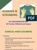 PMS Hand Rubbing & Scrubbing