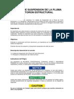 20. CABLES DE SUSPENSION DE LA PLUMA DE TORON ESTRUCTURAL
