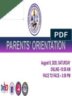 parent orientation spiel