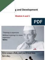 Module 4 & 5 - Training and Development