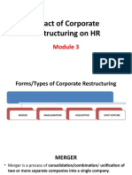 Module 3 - Impact of Corporate Restructuring on HR