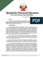 202006 - RDE n. ° 067-2020 - modificación del cronograma - Beca Continuidad de Estudios