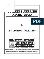 Current Affairs Monthly Issues_april - 2020