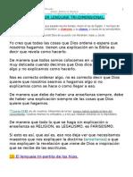 EL LENGUAJE TRI-DIMENSIONAL DEL SANTIFICADO.