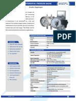 MP10 Differential Pressure Gauge - Double Diaphragm | MIEPL