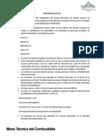 COMUNICADO OFICIAL MESA DE COMBUSTIBLE