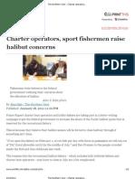 The Northern View - Charter Operators, Sport Fishermen Raise Halibut Concerns