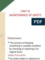 unit 3 maintenance of safety