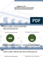 Updates 2019 & 2020 BOC Roadmap Deliverables