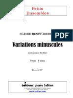 "JOUBERT Claude-Henry  ""Variations minuscules"""