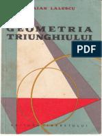Geometria Triunghiului - T. Lalescu (1958)