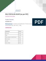 Bile Esculin Agar (as Per Iso) (1)