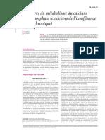 Désordres Du Métabolisme Du Calcium Et Du Phosphate (En Dehors De L'Insuffisance Rénale Chronique)