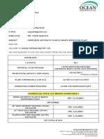 90MM PLASTIC WASTE REPROCESS PLANT - 2020