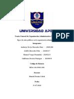 GRUPO IV - Trabajo Final Teoría General de Organización Administrativa Tributaria