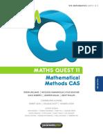 VCE Math Methods CAS Units 1 2 Text Book