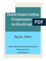Pronombres clíticos - Juan Stamboni