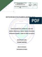 PLAN DE ASIGNATURA CATEDRA DE LA PAZ Borrador (2019)