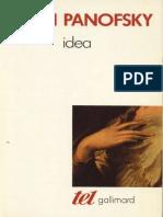 (Tel) Erwin Panofsky - Idea-Gallimard (1989)