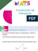 Construção de triângulos (1)