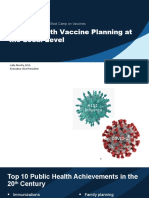 Public Health Vaccine Planning at the Local Level