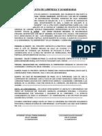 CONTRATO DE LIMPIEZA Y GUARDIANIA