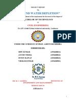 GROUND WATER DEPLETION
