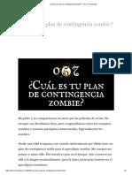 ¿Cuál es tu plan de contingencia zombie_ – Terror en Minutos
