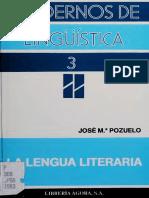 Pozuelo Yvancos, José María - La lengua literaria.pdf