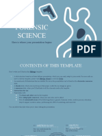 Forensic Science Thesis by Slidesgo