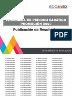 Resultados Periodo Sabático Estado de México 2020