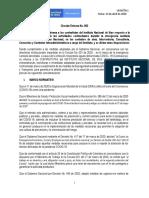 Circular Externa No. 002 del 13-04-2020