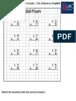 Worksheet 1st Grade - Addition and Match..pdf.docx