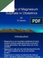Magnesium Sulphat regimen