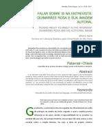 Guimarães Rosa e sua imagem autoral