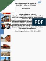 1. INDUCCION A LA SEGURIDAD Y SALUD EN EL TRABAJO EN EL PERU