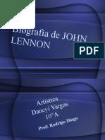 Biografia de John Lennon Daneyi Vargas