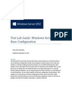 wIN seRVER 2012 Test Lab Guide