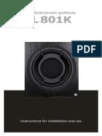 Musikelectronic Geithain RL 801K Manual English